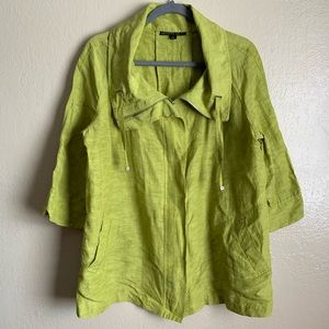 LAFAYETTE 148 New York Linen Jacket Green 12